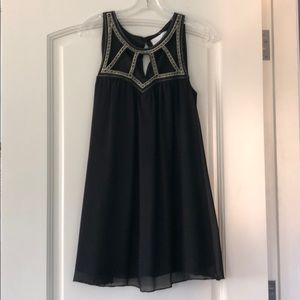 Black embellished Strappy Dress
